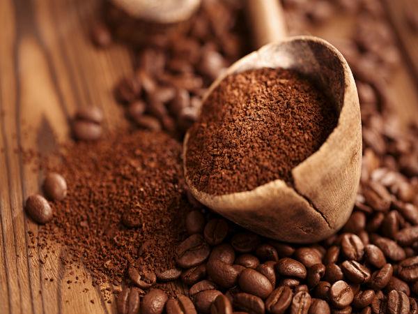 سكرب القهوة والملح وزيت الزيتون