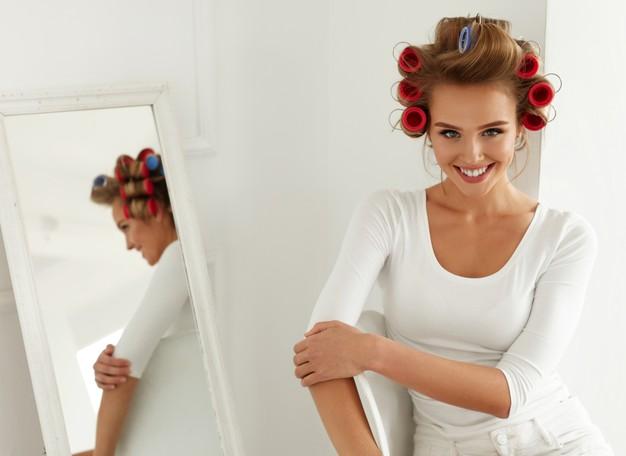 طريقة استخدام لفافات الشعر