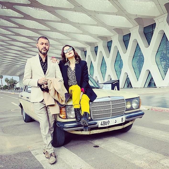 1سامية أقريو و أمين الناجي من تصوير سبع ليالي