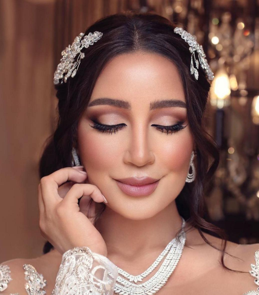 مكياج خليجي للعروس من أمل العنبري