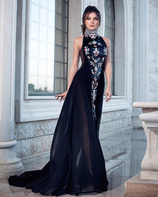 فستان باللون الأسود من توقيع المصمّم رامي سلمون