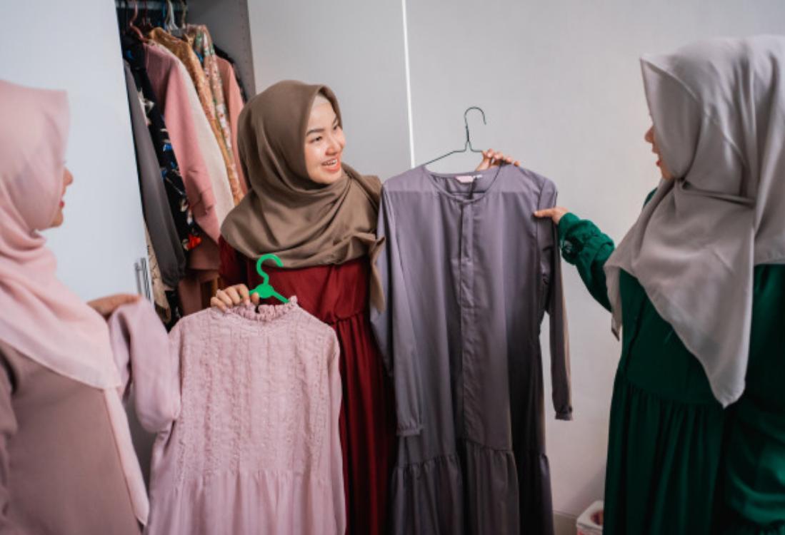 اختيار قماش الحجاب مع الازياء