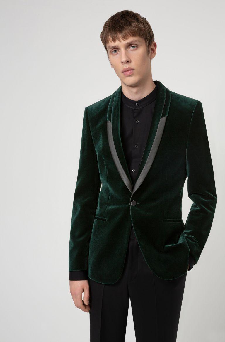 بليزر أخضر داكن من Hugo Boss