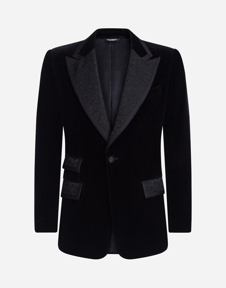 بليزر مخمل أسود من Dolce&Gabbana