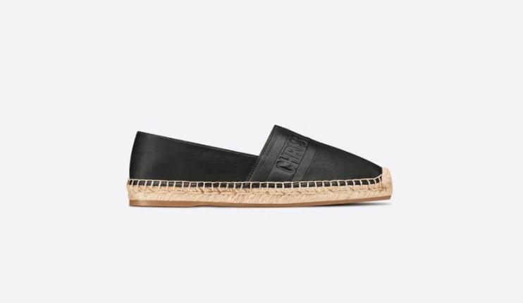 حذاء أسود مسطح من ديور