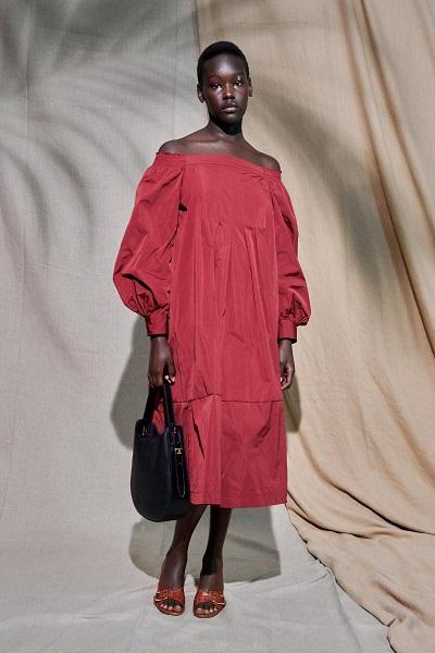 فستان فضفاض بأكمام طويلة من تودز Tod-s