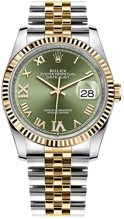 ساعة ديتجست 26 Datejust 36 بمينا أخضر من رولكس Rolex
