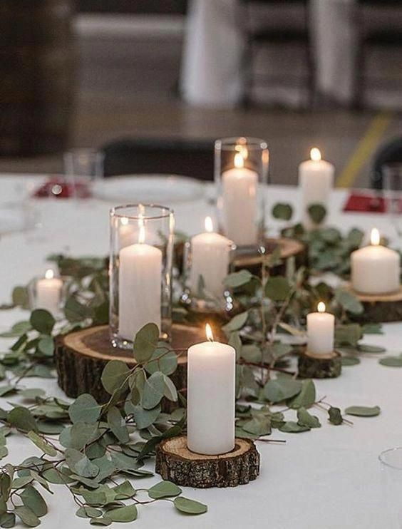 ديكور خشبي للشموع