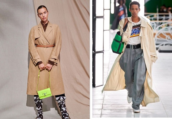 معاطف الترنش trenchcoat من لويس فويتون Louis Vuitton وتودز Tod's