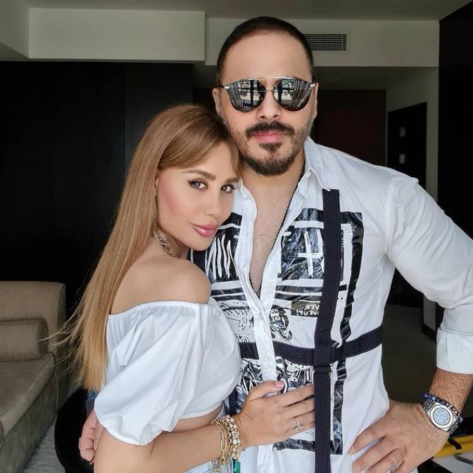 رامي عياش وزوجته- من إنستغرام