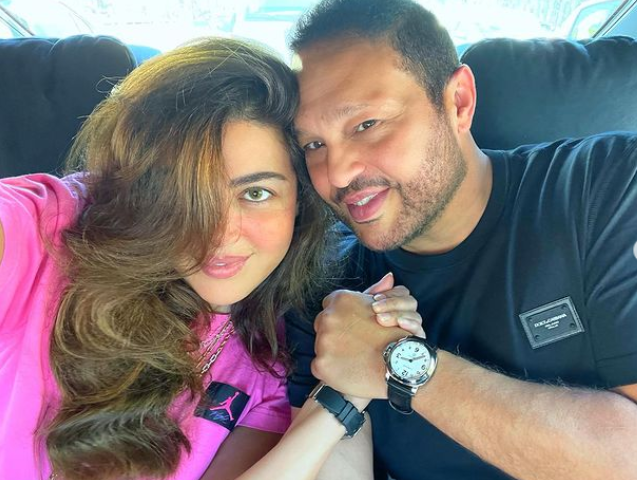 ريهام حجاج. وزوجها محمد حلاوة. من حسابها على انستقرام
