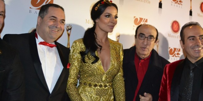 A snapshot from one of the Murex D'or Awards, showing the two sweet brothers with the late Elias Rahbani and Nadine Njeim.jpg