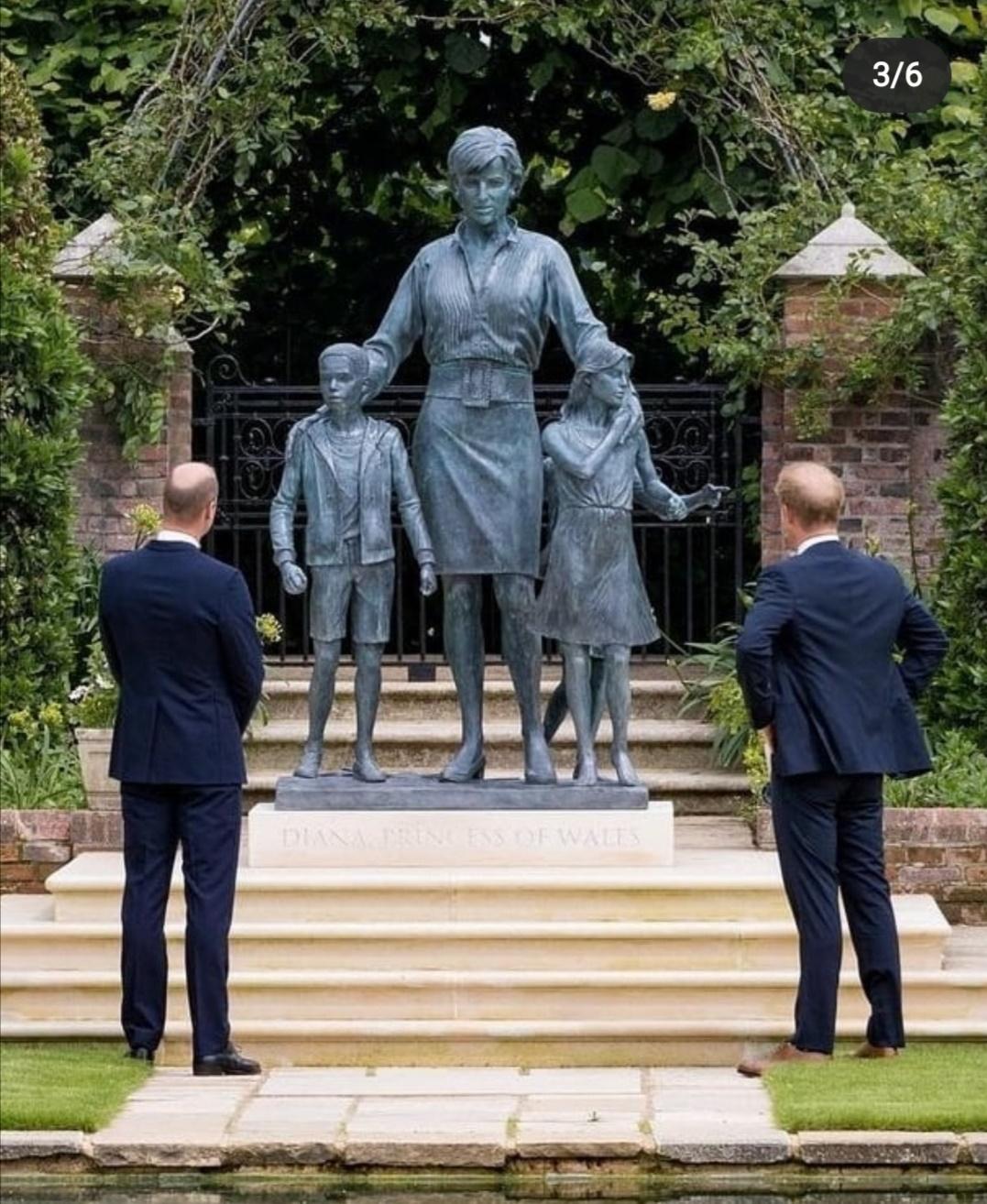 تمثال الراحلة ديانا تحتضن ثلاثة أطفال- الصورة من حسابها على إنستغرام.jpg