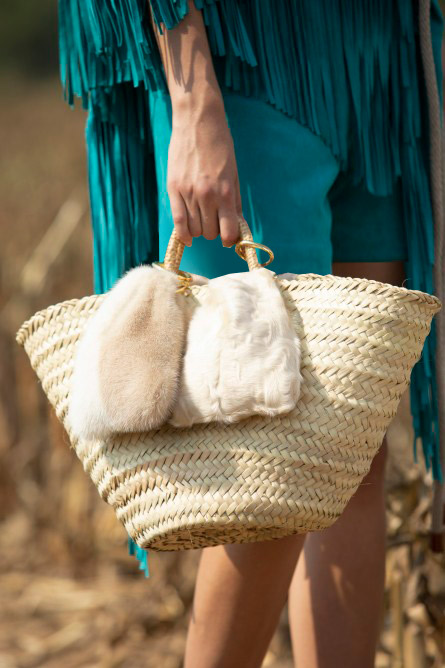 حقيبة قش من سيمونيتا رافيزا Simonetta Ravizza