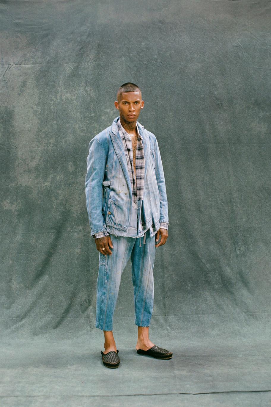 بنطلون جينز قصير من غريغ لورن Greg Lauren