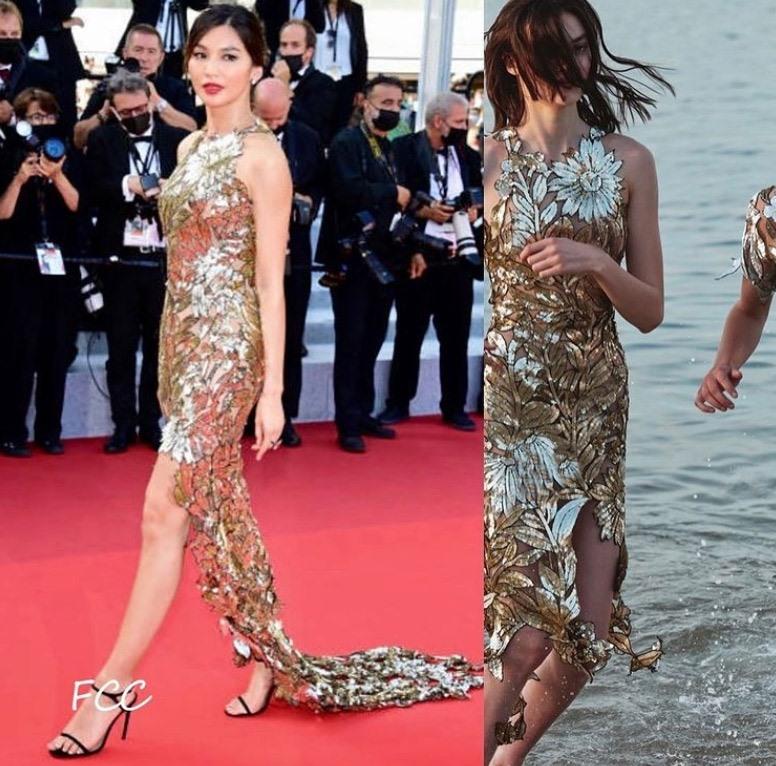 غيما تشان في فستان من أوسكار دي لارنتا