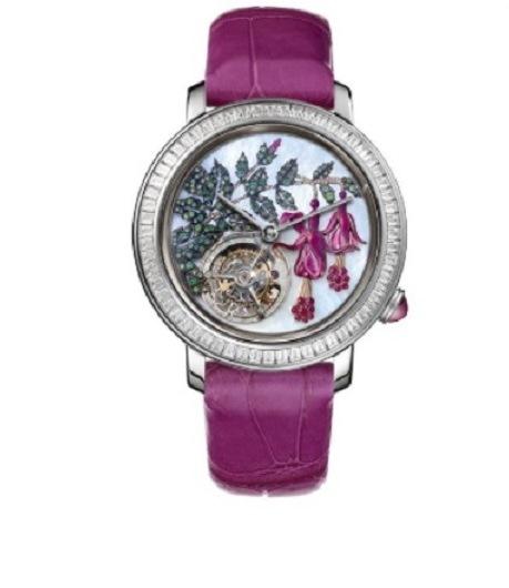 ساعة جلد ملونة بوشرون Boucheron