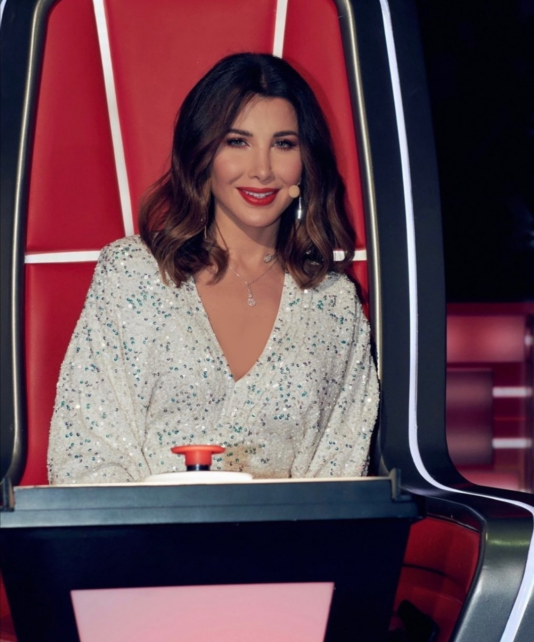 نانسي عجرم بالفستان -الصورة من حساب النجمة على انستغرام