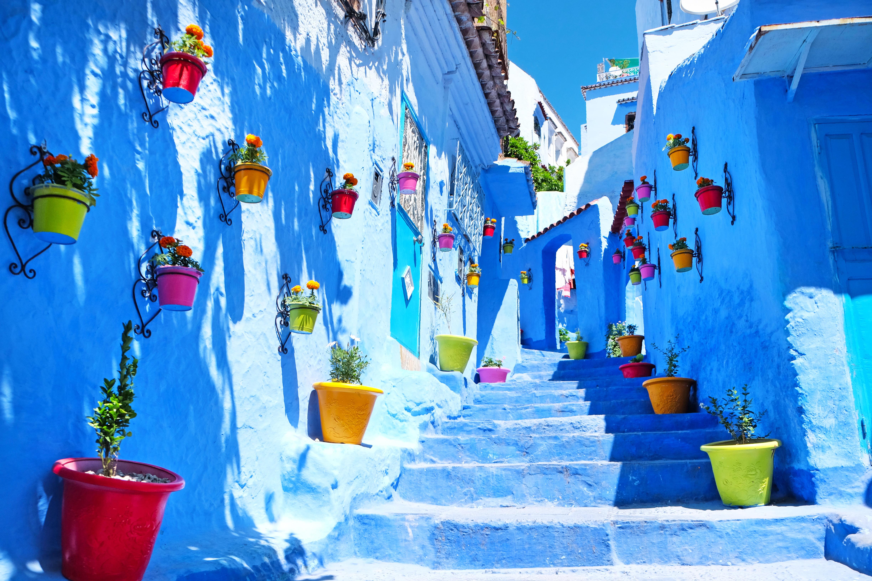 الشارع الأزرق بمدينة شفشاون المغربية