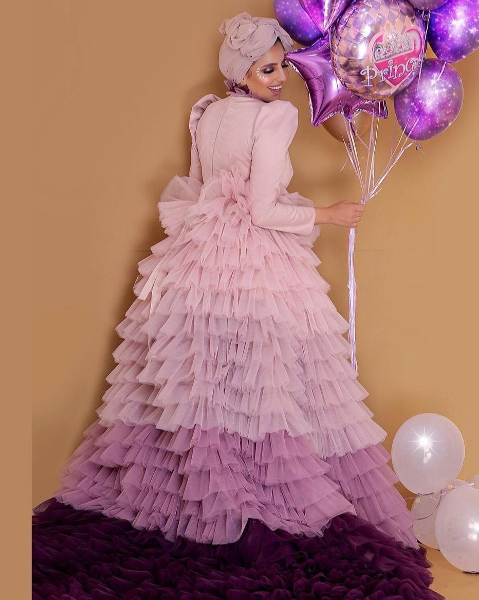 اميرة كرم بفستان متعدد الطبقات -الصورة من حسابها على الانستغرام