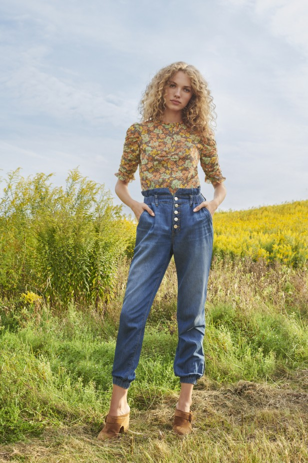 بنطلون جينز هاي ويست من  Veronica Beard -صورة 4
