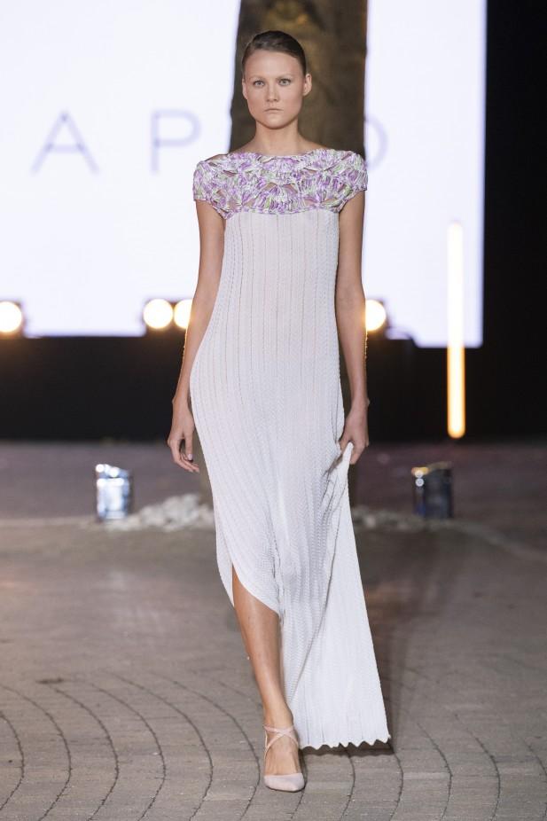 فستان سهرة بنفسجي فاتح من Maria Sapio-