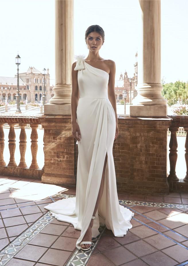 فستان زفاف بكتف واحدة من Marchesa for Pronovias -صورة 2