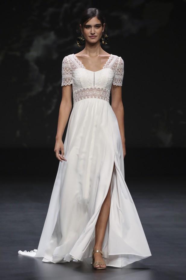 فستان زفاف مع فتحة جانبية من Marylise-صورة 3
