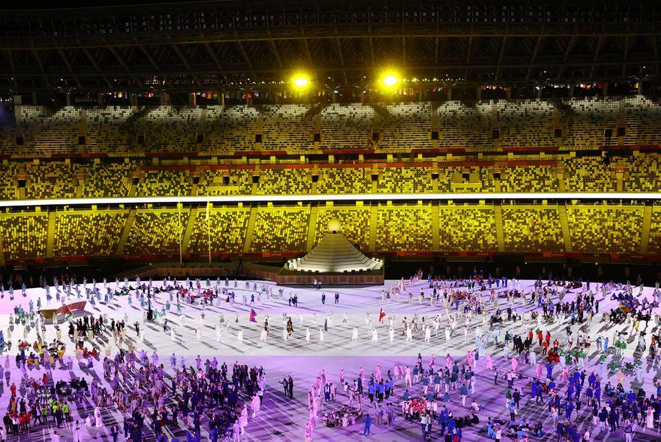 حفل الإفتتاح- الصورة من موقع Reuters-----