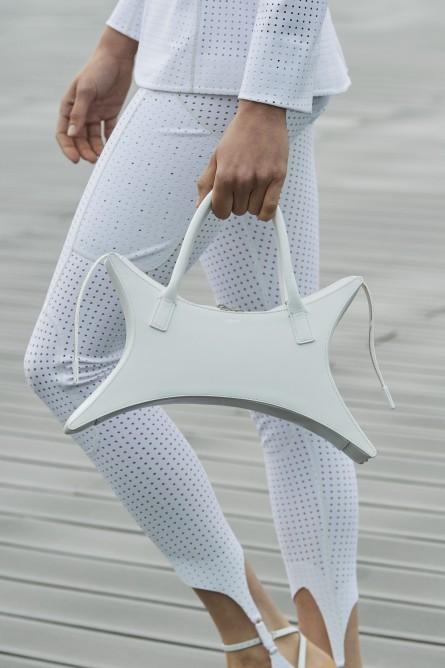 حقيبة جلد بيضاء من Coperni