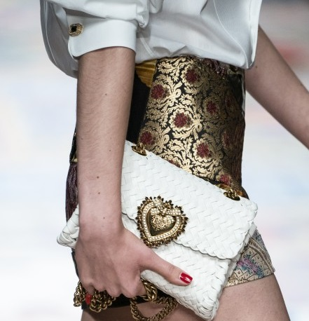 حقيبة جلد بيضاء من دولشي آند جابانا