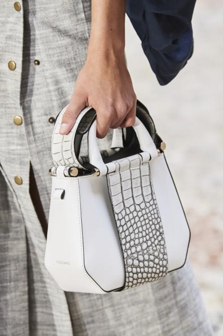 حقيبة جلد بيضاء من ماريو دايس
