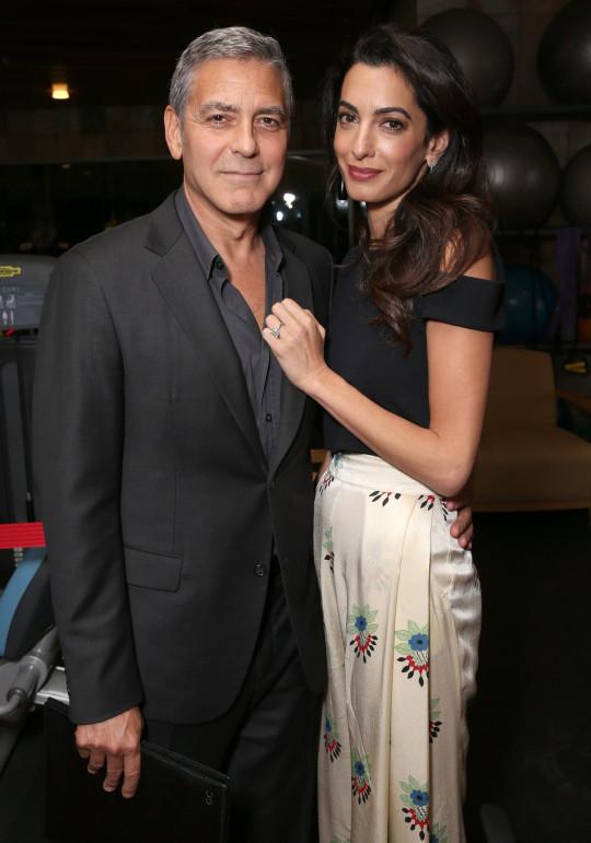 جورج كلوني وزوجته أمل - الصورة من موقع مترو