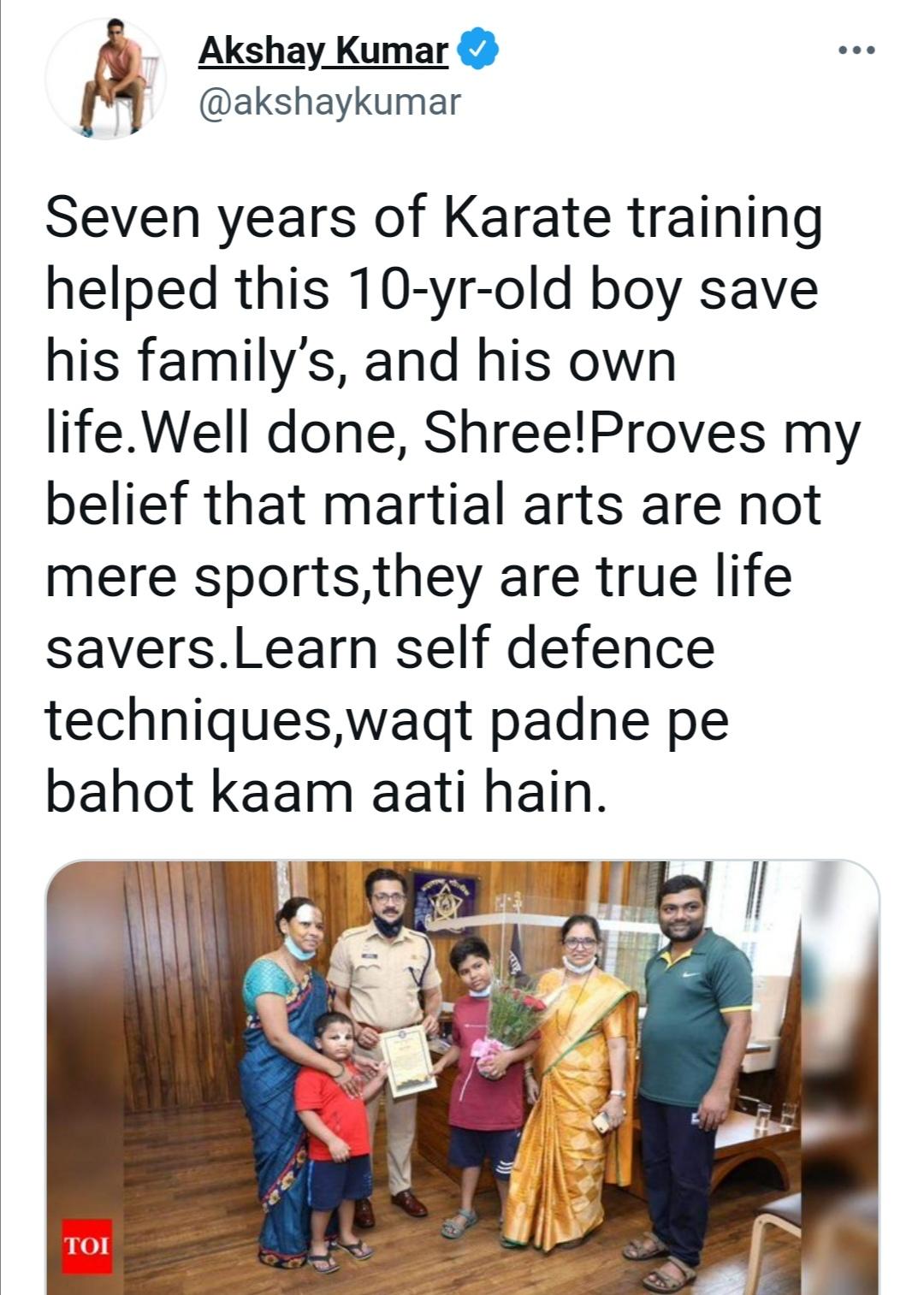 أكشاي كومار- الصورة من حسابه على إنستغرام