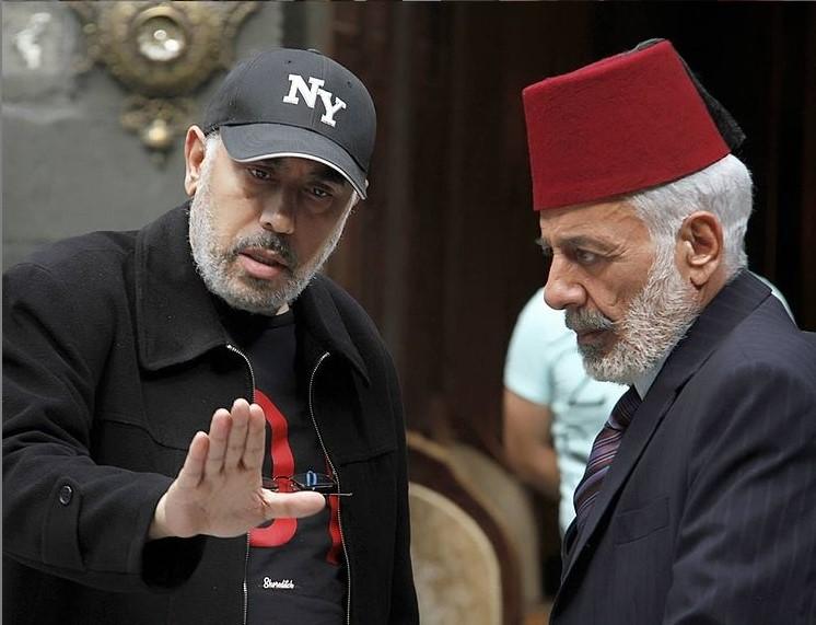 المخرج سمير حسين و أيمن زيدان من كواليس المسلسل - الصورة من انستقرام سمير حسين