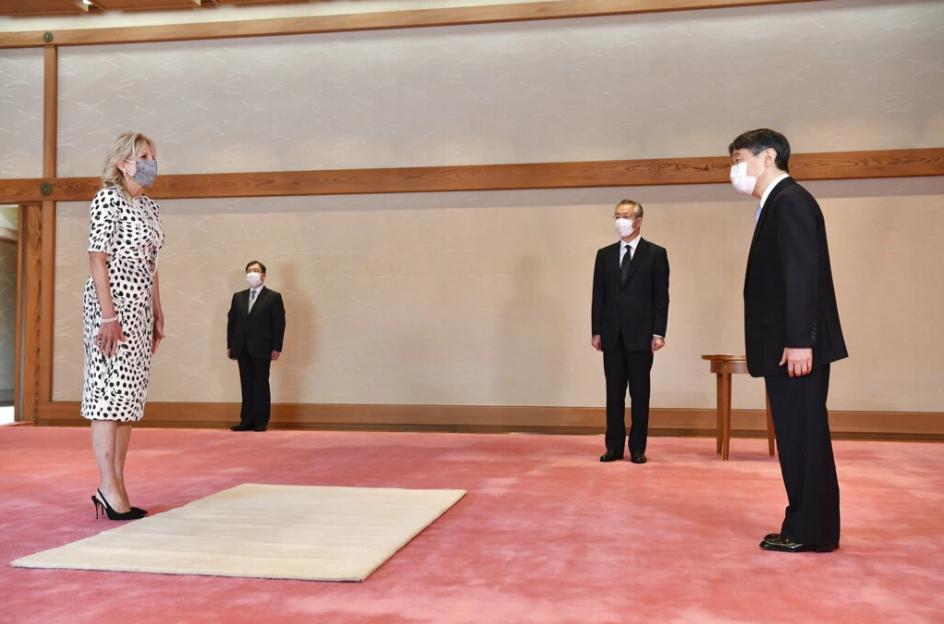 إمبراطور اليابان يستقبل السيدة جيل بايدن- الصورة من موقع Reuters