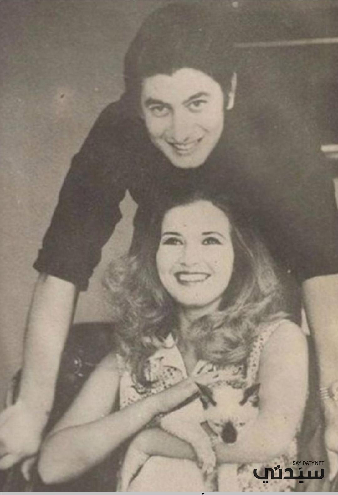 عمر خورشيد وزوجته الثانية النجمة ميرقت أمين- الصورة من أرشيف جيهان خورشيد