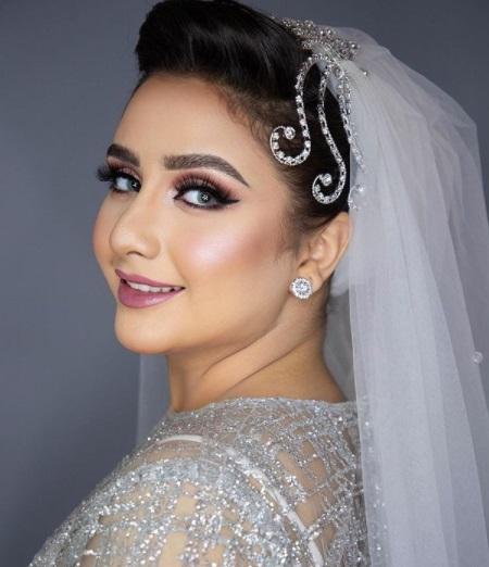 طريقة تطبيق مكياج جذاب لعروس 2021- الصورة من إنستجرام- صفحة خبيرة التجميل سما محرز