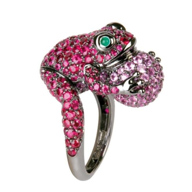 خاتم فخم بالياقوت الزهري من ماركة بوشرون Boucheron