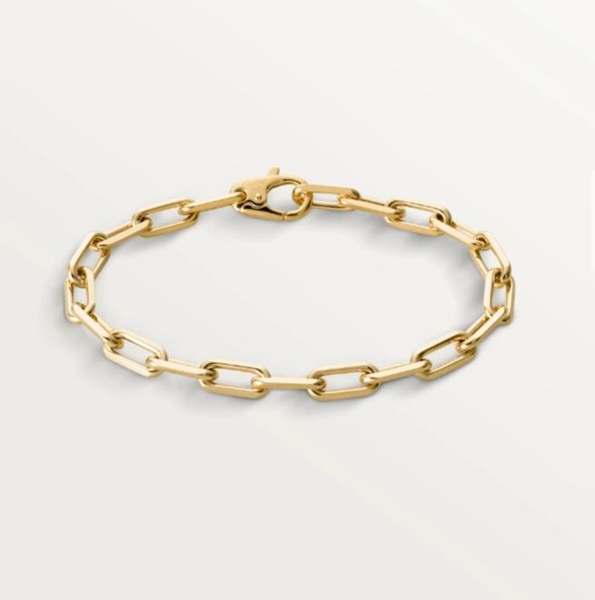 سوار ذهب أصفر بسلاسل Chain من علامة كارتييه Cartier