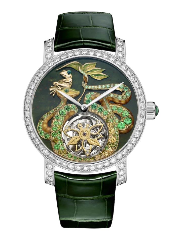 ساعة ESPIÉGLERIES باللون الأخضر من علامة شوميه Chaumet