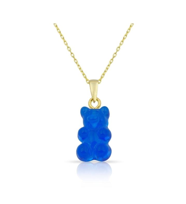 قلادة دب باللون الأزرق من Hanadis Jewelry
