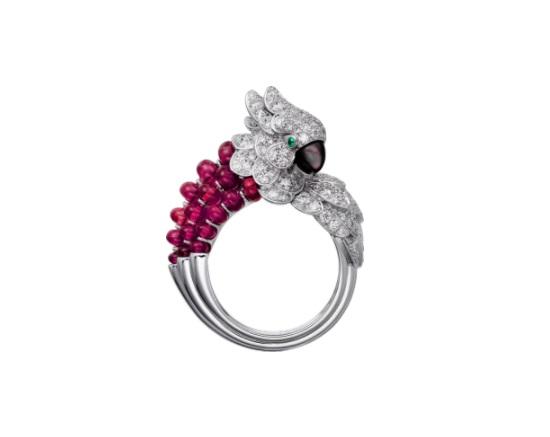 خاتم مرصع بالجشمت والعقيق من كارتييه Cartier