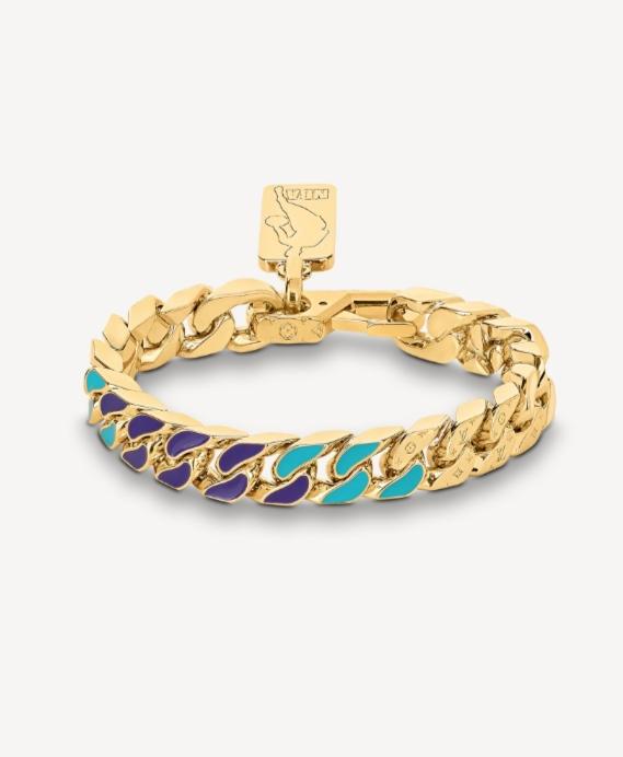 سوار ذهب بسلاسل Chain من علامة لويس فيتون Louis Vuitton