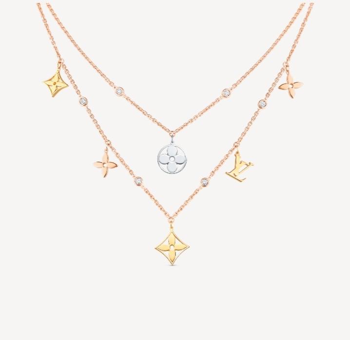 سلسلة قصيرة للتكديس بالذهب الوردي من ماركة لويس فيتون Louis Vuitton
