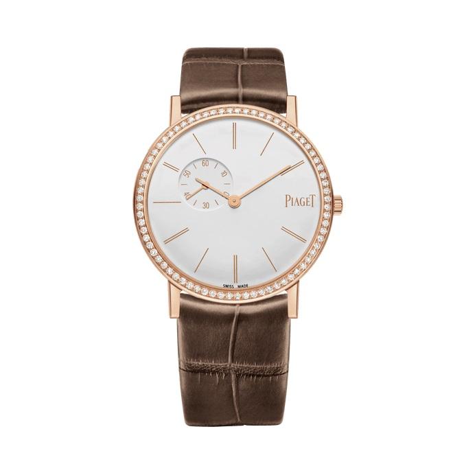 ساعة جلد باللون البني من بياجيه Piaget