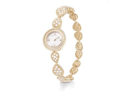ساعة من الذهب الأصفر مرصعة بالألماس من بوشرون Boucheron