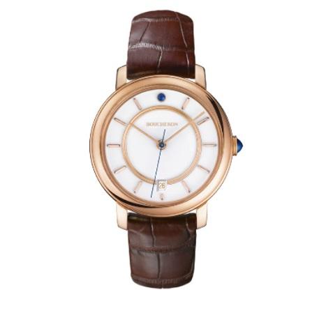 ساعة جلد باللون البني من بوشرون Boucheron