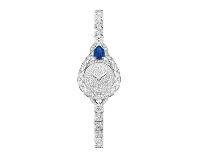ساعة مرصعة بالياقوت الأزرق والألماس من شوميهChaumet