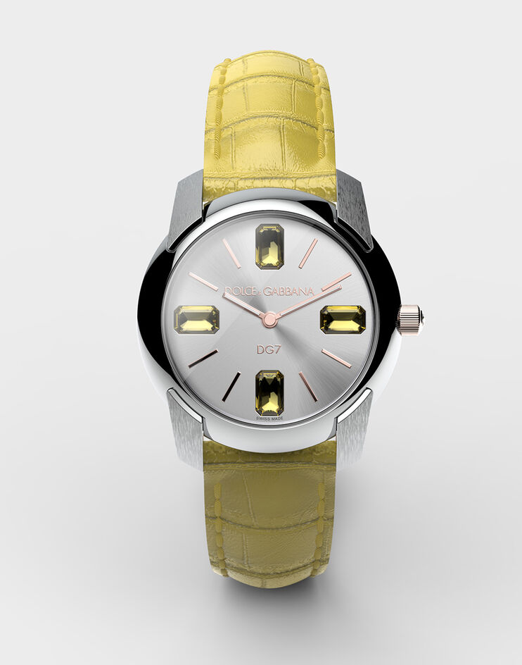 ساعة صفراء من دولشي آند غابانا Dolce & Gabbana